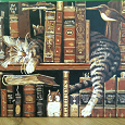 Отдается в дар Картина Библиотечный кот