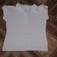 Отдается в дар Рубашка-поло детская белая на рост 140 см