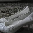 Отдается в дар Туфли свадебные, размер 7,5