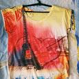Отдается в дар Летняя футболка с ярким принтом, размер S