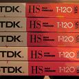 Отдается в дар Видеокассеты VHS, TDK, чистые