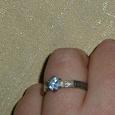 Отдается в дар Кольцо серебро с голубым камнем Спаси и сохрани