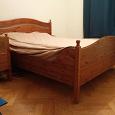 Отдается в дар Двуспальная кровать IKEA с двумя ортопедическими матрасами
