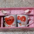Отдается в дар Пара кофейных чашечек с ложечками