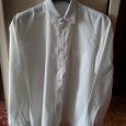 Отдается в дар Мужская рубашка, белая, хлопок 50—52 размер