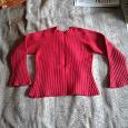 Отдается в дар дарю свитер для девочки красный шерстяной рост 125-130 см