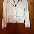Отдается в дар Белая джинсовая куртка р42-44