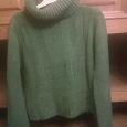 Отдается в дар свитер теплый зеленый р44
