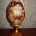 Отдается в дар Яйцо деревянное на подставке