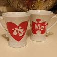 Отдается в дар новые кофейные чашечки для влюбленных