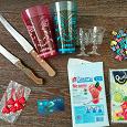 Отдается в дар Кухонное: ножи, стаканы, пакеты для льда.