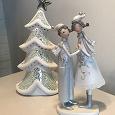 Отдается в дар Фигурки керамические Ёлка-подсвечник и парочка: девочка и мальчик