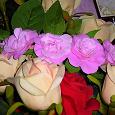 Отдается в дар Ободок для волос ручной работы с розовыми розочками