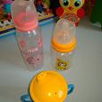 Отдается в дар Бутылочки и поильник для малышей