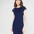 Отдается в дар Платье мини темно-синее. Разм 44 (S).