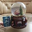 Отдается в дар Стеклянный шар с дедом морозом