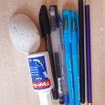 Отдается в дар Ручки, ластик, карандаши, замазка