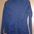 Отдается в дар Рубашка женская, размер 42-44, рост 160-165см, темно-синяя, хлопок, идеальное состояние.