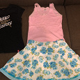 Отдается в дар Одежда для девочки 128-140: футболка, майка, юбка