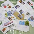 Отдается в дар Марки почты Донбасса с конвертов (художественные)