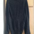 Отдается в дар Черный свитер большого размера, с искрой