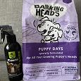 Отдается в дар Средство для приучения к туалету и остатки корма для щенков Barking Heads курица и рыба