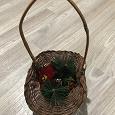Отдается в дар Корзинка плетёная с декором