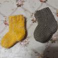 Отдается в дар теплые носочки на 1год