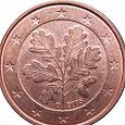 Отдается в дар Монета 1 евроцент Германии 2005 D