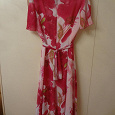 Отдается в дар летнее платье с розово-белыми цветами 48 р-ра