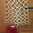 Отдается в дар Органайзер для платков и шарфов и подушка на стул (всё IKEA)