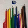 Отдается в дар Цветные карандаши + точилка