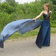 Отдается в дар Платье глубокого синего цвета