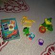 Отдается в дар Игрушки: куколка маленькая, мягкая игрушка собачка, ободок, карты детские из мака, лошадка пластиковая, колечки из пластика, дракончик