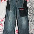 Отдается в дар джинсы комбинированные, утепленные на мальчика.