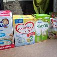 Отдается в дар Детское питание (каши, молочная смесь)