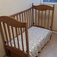 Отдается в дар детская кроватка с матрасом