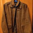 Отдается в дар Утепленная кожаная куртка мужская, 48-50 размер