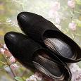Отдается в дар Чёрные демисезонные женские туфли( кожа)