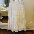 Отдается в дар Белая хлопковая юбка 44