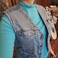 Отдается в дар Жилет джинсовый