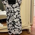 Отдается в дар Нарядное черно-белое платье, 44