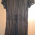 Отдается в дар Платье гипюровое, черное, 44-ый размер, отличное состояние.