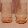 Отдается в дар Красивые розовые стаканы 2 шт.