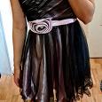 Отдается в дар Вечернее чёрное-лиловое платье, 44 размер