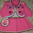 Отдается в дар Теплое вязаное платье для малышки