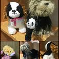Отдается в дар Мягкие игрушки — йорк, бигль, панда-на-палец, хомяк