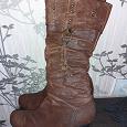 Отдается в дар Кожаные сапоги, 38 размер, каблук 6см