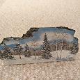 Отдается в дар Сувенир «Зимний лес» выполненный на камне
