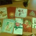 Отдается в дар открытки чистые новый год и рождество